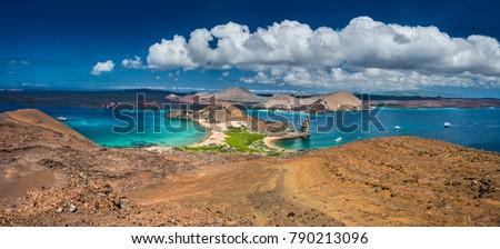 the galapagos islands. panorama ...