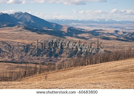 The Gallatin National Forest and West Boulder River basin near McLeod, Montana.