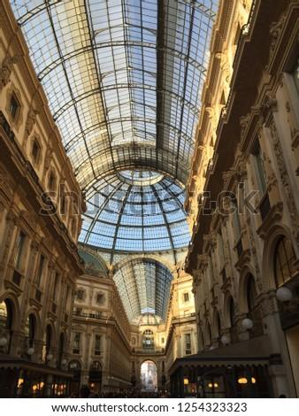 The Galleria Vittorio Emanuele in Milano, Italy. #1254323323