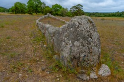The Gannarves stone Ship is a tomb monument from the Bronze Age. Viking culture. Gotland. Sweden