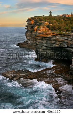 The Gap, a spectacular ocean cliff at Watsons Bay, near South Head, Sydney