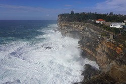 The Gap at Watsons Bay on a Stormy Day