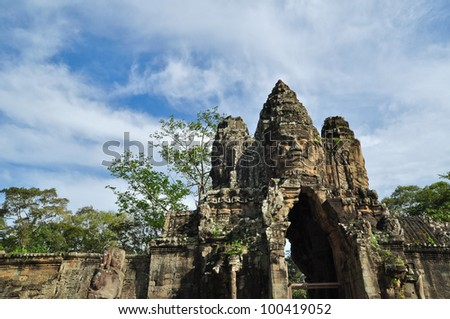 The Gate at Bayon Temple, Angkor Wat, Cambodia