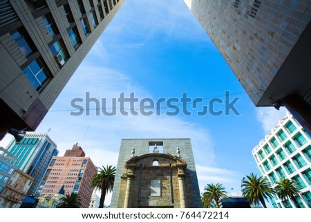 Shutterstock The gate between Plaza Independencia and Ciudad Vieja in Montevideo, Uruguay.
