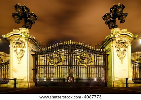 The gate of Buckingham palace