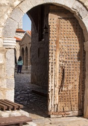 The gate of famous monastery of Saint Naum at Ohrid, Republic of Macedonia (FYROM)