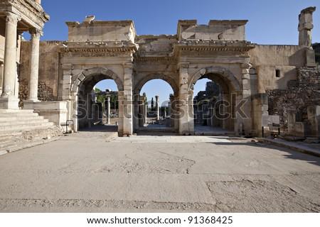 The Gates of Mazaeus and Mithridates, Ephesus, Izmir, Turkey