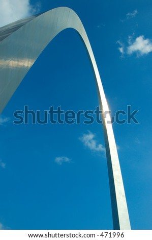 The Gateway Arch in St. Louis, MO, USA - tallest national monument in the United States at 630 feet tall.