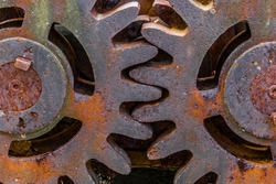 The gear which  in rust