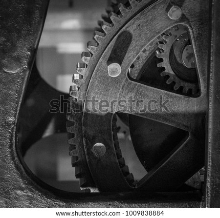 the gears of a old and vintage...