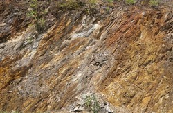 The geological structure shale sedimentary rock.