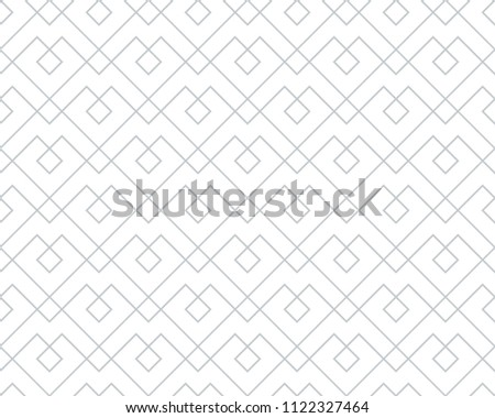The geometric pattern with lines. Seamless background. White and grey texture. Graphic modern pattern. Simple lattice graphic design.