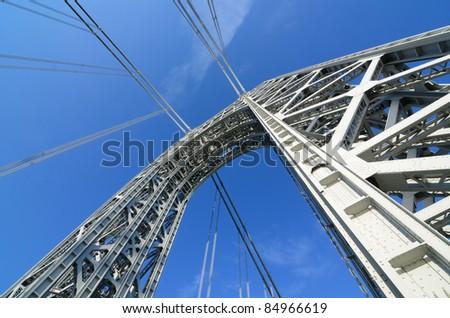 The George Washington Bridge Arch in New York City.