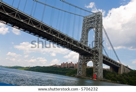 The George Washington Bridge in New York City