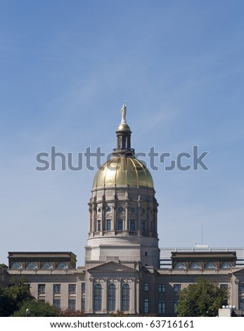The Georgia State Capitol Building in downtown Atlanta.