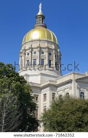 The Georgia State Capitol in Atlanta, Georgia.