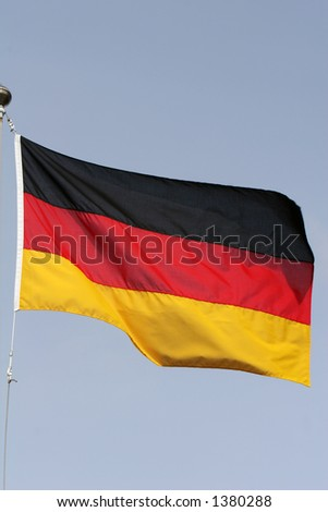 the german flag flapping in the wind