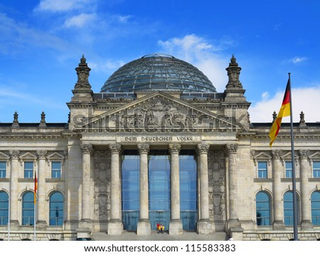 The German Reichstag, Berlin, Germany