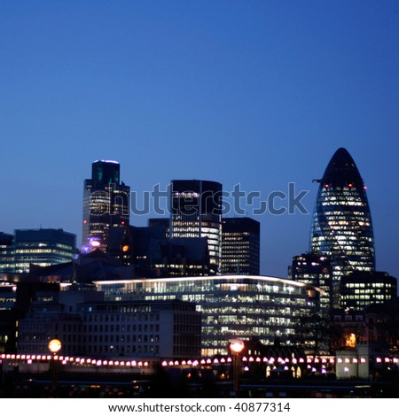 The Gherkin and other modern buildings
