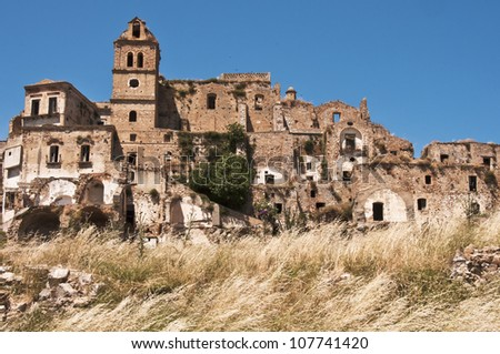 the ghost and abandoned city of Craco, Basilicata, Italy