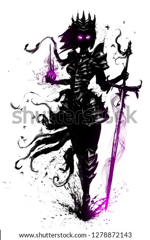 Stock Photo The Ghost of a Queen with a large sword