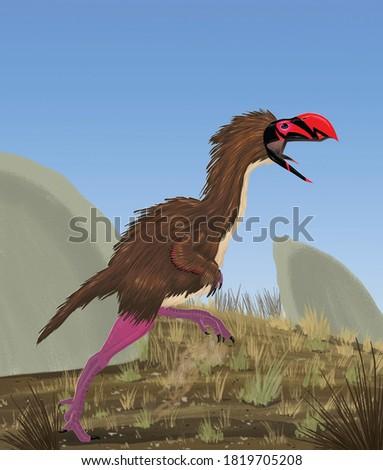 The gigantic 'terror bird' Titanis. Photo stock ©