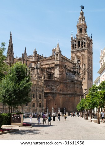 The Giralda Tower and Cathedral of Seville, Spain