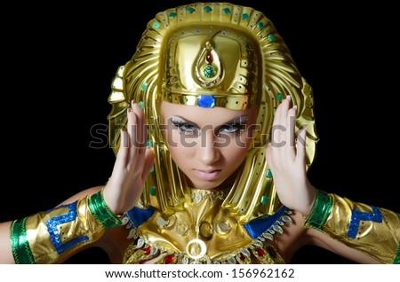 The girl-dancer in costume of the Pharaoh