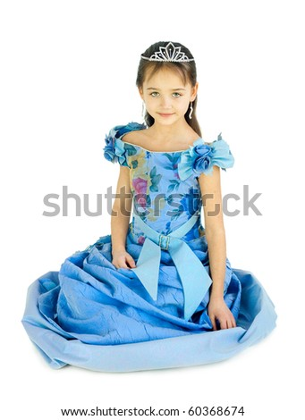 The girl in a dress of the princess