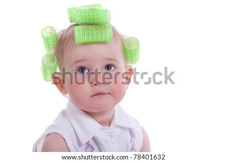 The girl in hair curlers