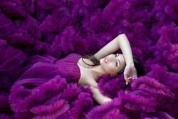 the girl in the purple dress