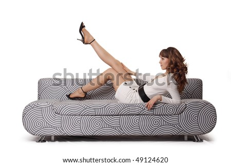 The girl on a sofa
