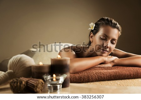 The girl relaxes in the spa salon Stock photo ©