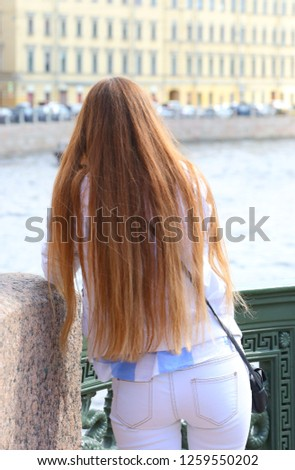 The girl with long hair