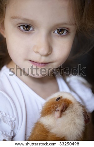 The girl with the guinea pigs