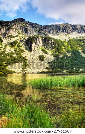 The glacial lake in the Rila (bulgarian mountains)