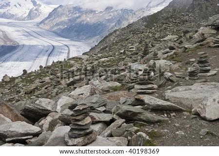 the glacier at the Matterhorn in Switzerland