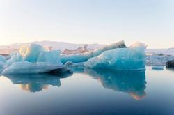 The Glacier Lagoon Jökulsarlon in Iceland, Europe