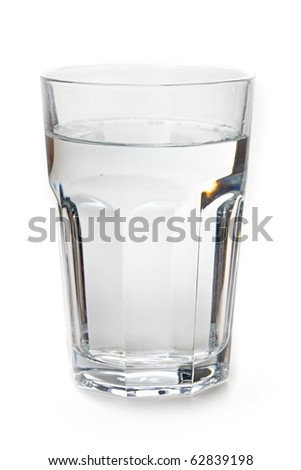 The glass of water isolated on white background
