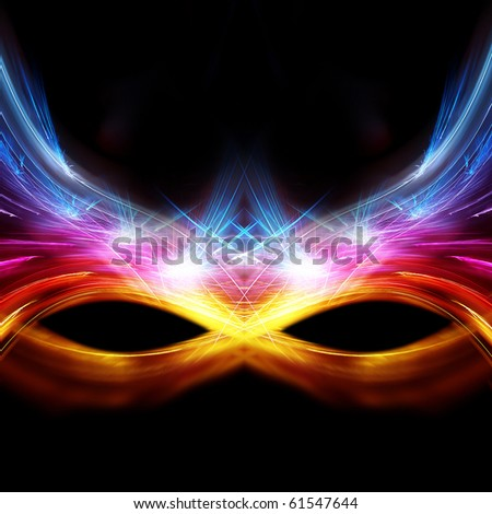 The glittering carnival mask - stock photo