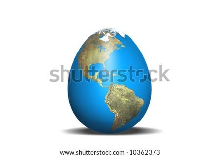 The globe which has the form of an egg