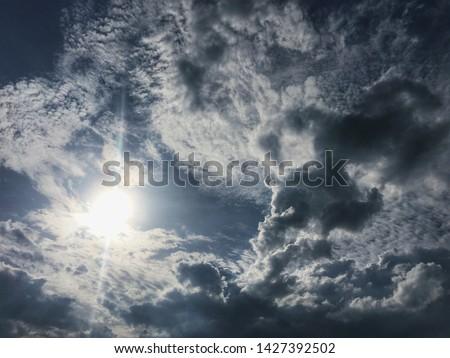 The gloomy sky has sunshine and natural beauty. #1427392502