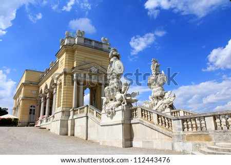 The Gloriette in the Schloss Schoenbrunn Palace Garden, built in 1775, A UNESCO World Cultural Heritage, Vienna - Austria