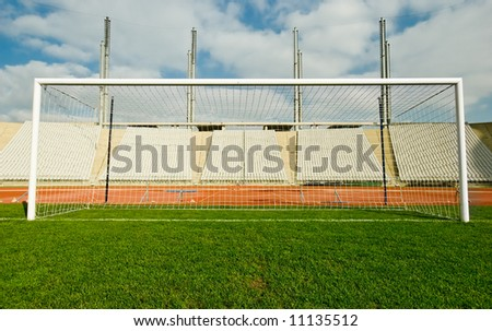 The goal at the stadium
