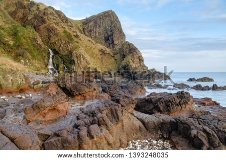 The Gobbins is a cliff-face path etched out along the dramatic shoreline of Islandmagee, County Antrim, Northern Ireland along the Causeway Coast.  It was the brain-child of an Irish railway engineer  #1393248035