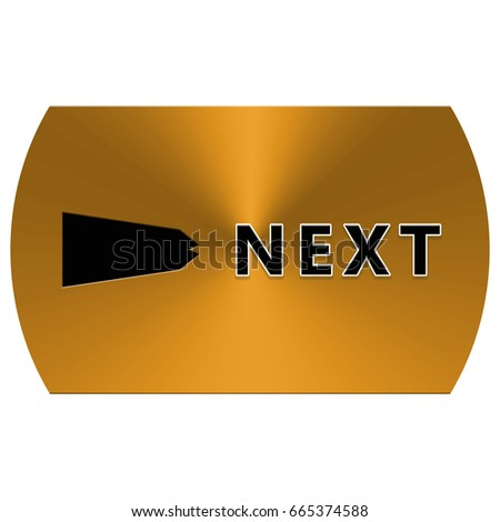 The golden button next with the black arrow and the text
