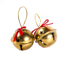 The golden Christmas bells.
