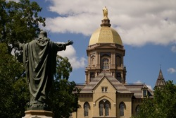 The Golden Dome atop the MaIn Building at the University of Notre Dame