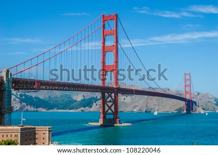 The Golden Gate Bridge in San Francisco, California, USA, Die Golden Gate Bridge in San Francisco, Kalifornien, USA - stock photo