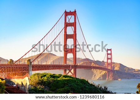 The Golden Gate Bridge is the symbol of San Francisco, California, USA. It is the main touristic attraction in the city and was inaugurated in 1937.